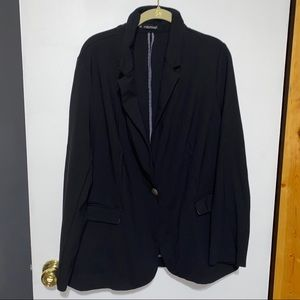 Black Maurices Blazer with Front Pockets